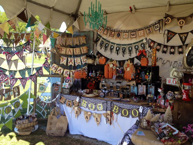 Our craft fair booth at the fall fun fest ladera ranch for Craft ideas for craft fairs