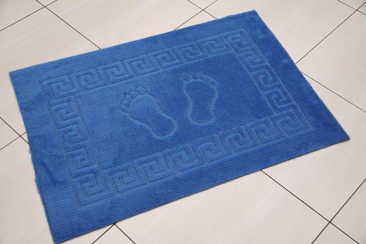Granatowy dywanik łazienkowy