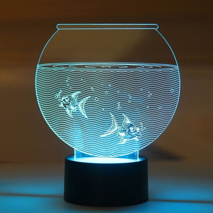 Aquarium LED Night Lamp LEDnightLamp NightLamp 3DLamp