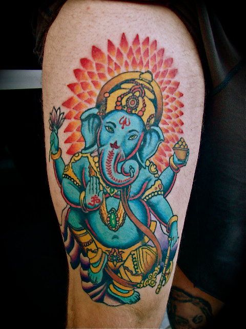 I would want my Ganesh tattoo to have kind eyes like this one. :)