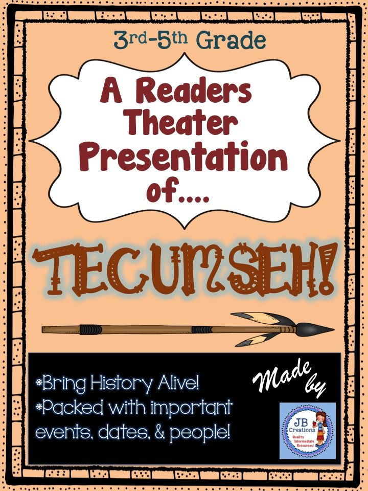 Follow the legendary Tecumseh as he brings a confederation of Native American tribes together to fight the Battle of Fallen Timbers and Tippecanoe!  This original play contains 15 parts featuring various reading levels to ensure whole class participation, differentiation, and engagement.  https://www.teacherspayteachers.com/Product/Readers-Theater-Tecumseh-and-The-Battle-of-Fallen-Timbers-3rd-4th-5th-2382108