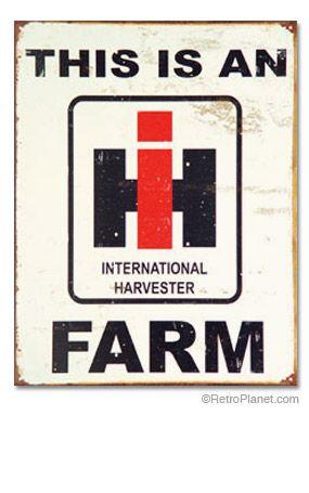 International Harvester Metal Sign