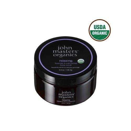 John Masters Organics Relaxing Lavender & Palmerosa Body Scrub is een ontspannende en rustgevende USDA gecertificeerde, organische suikerscrub die 12 organische oliën en extracten combineert om de huid voorzichtig te scrubben en te voeden. Lavendel en palmarosa blad olie hydrateren en verzachten de huid. Bergamot olie helpt de huid te egaliseren.