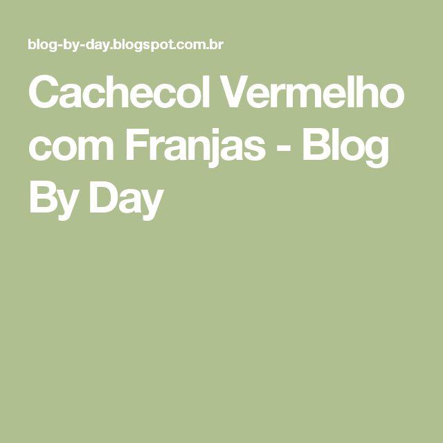 Cachecol Vermelho com Franjas - Blog By Day