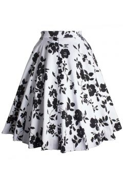 Women's Knee Length Flare Floral A Line Full Circle Skirt Patterns
