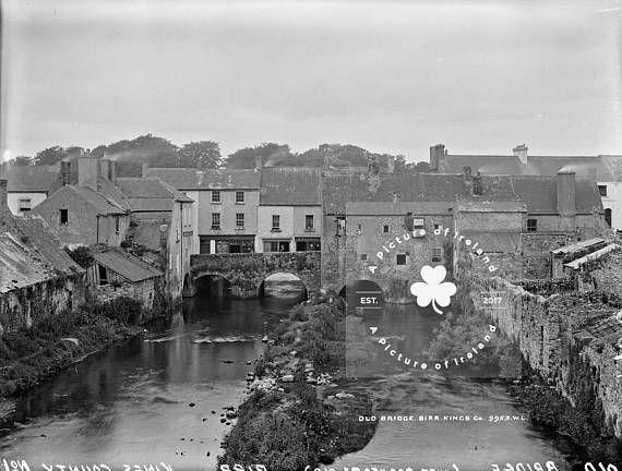 Old Bridge Birr County Offaly Kings County Ireland c.1865