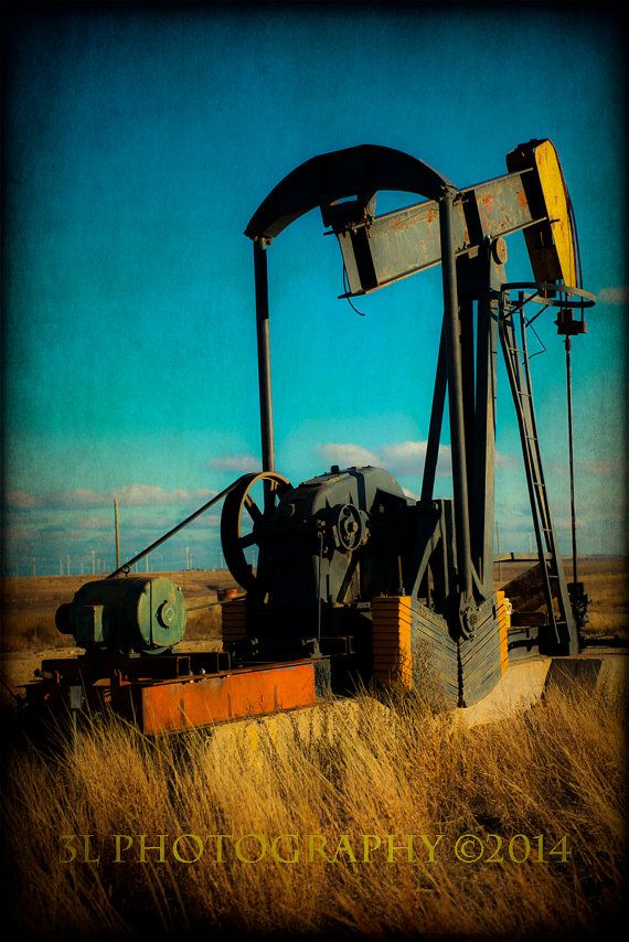 Oil Well Rig Western Rustic Fine Art Photography by 3LPhotography, $25.00