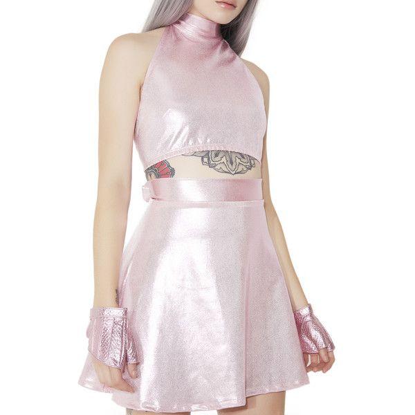 Stellar Supernova Mini Skirt ($36) ❤ liked on Polyvore featuring skirts, mini skirts, high waisted mini skirt, galaxy skirts, pink high waisted skirt, metallic mini skirt and high waisted a line skirt