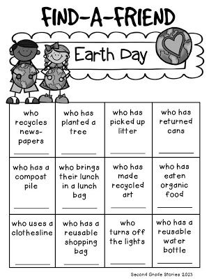 Earth Day freebie from Second Grade Stories