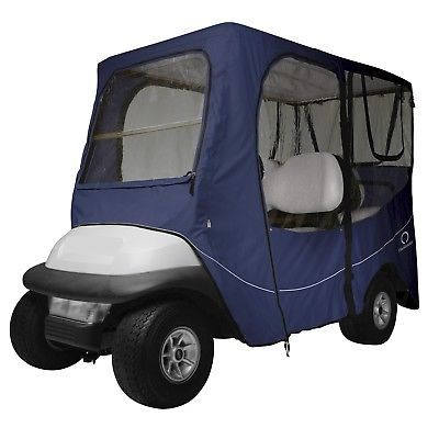 Push-Pull Golf Cart Add-ons 72671: Fairway Golf Cart Deluxe Enclosure Long Roof - Navy 40-053-345501-00 -> BUY IT NOW ONLY: $197.39 on eBay!