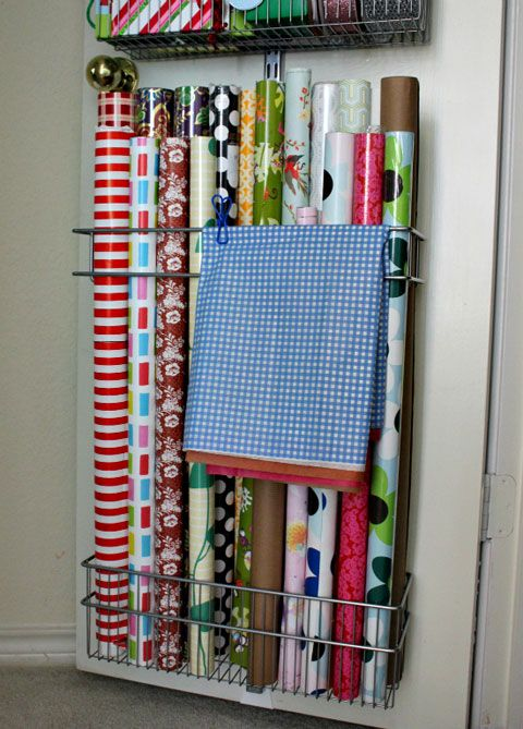 IHeart Organizing: UHeart Organizing: Wrap It Up! A better way to organize your gift wrap!