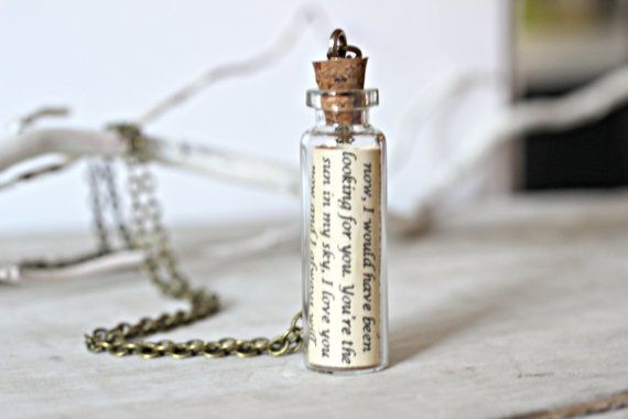 For Him Jewelry, Message in a Bottle Necklace, Personalized Gift, Bottle Necklace, Boyfriend Gift, Husband Gift, Love Letter Necklace on Etsy, $27.55 AUD