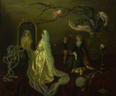 "Saatchi Art Artist Margarita Makarova; Painting, ""Princess Diana. Three colors of the Time."" #art"