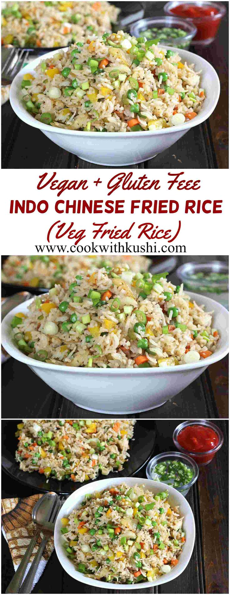Indo Chinese Fried Rice / Veg Gebratener Reis