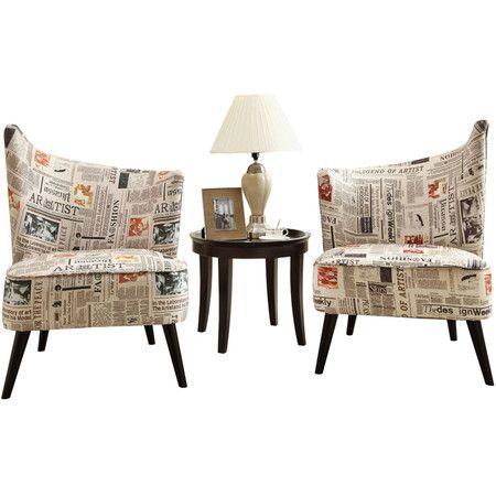 newspaper print chair 2