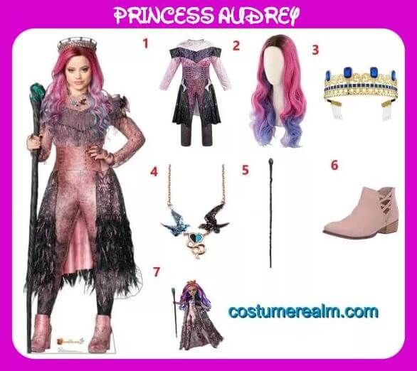 Kids/&Adults Descendants 3 Audrey Mal Jumpsuit Fancy Dress Costume Cosplay Gifts