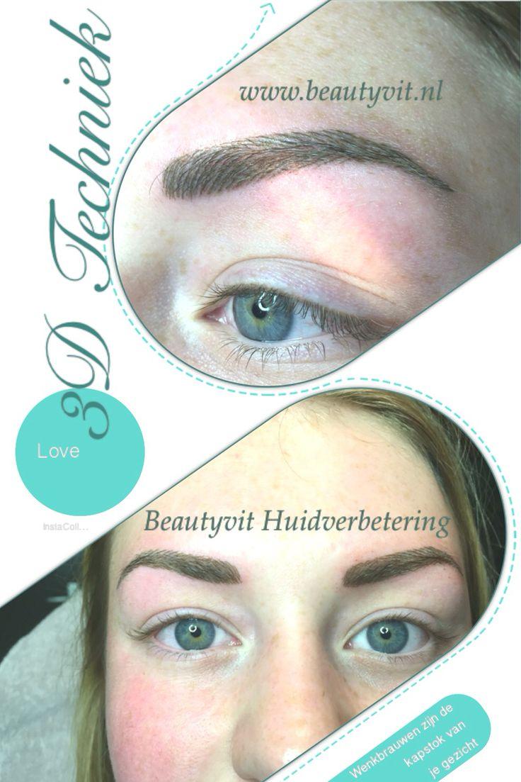 Permanente make-up wenkbrauwen 3D techniek. Super dunne haartje een naturel look. Bijna niet van echte haartjes te onderscheiden. Beautyvit Huidverbetering Dreef 10 4813eg Breda 0765223838 info@beautyvit.nl www.beautyvit.nl