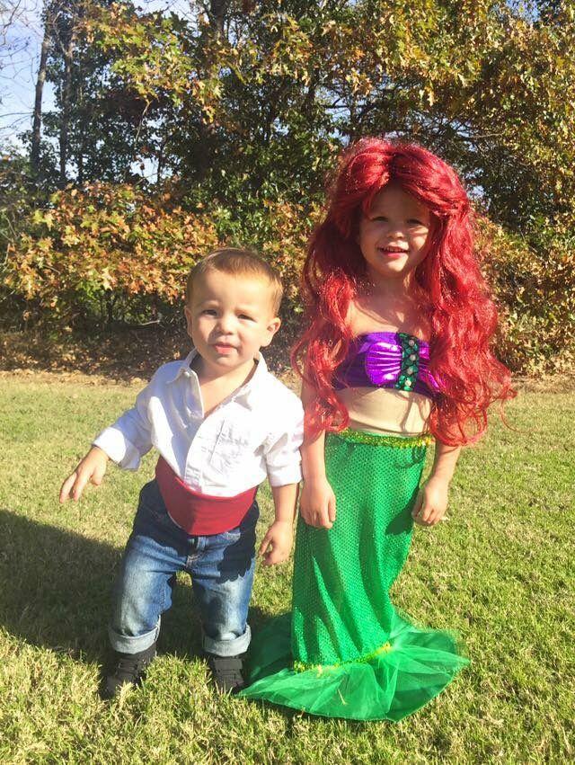 Disney Little Mermaid Sibling Halloween Costume Prince Eric and Ariel