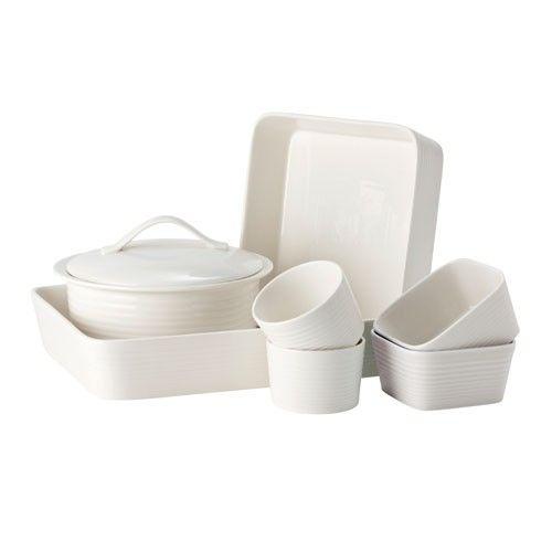 Gordon Ramsay Maze by Royal Doulton - 7pc Dinner Set - White