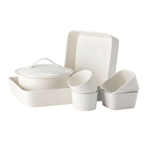 Gordon Ramsay Maze by Royal Doulton - 7pc Dinner Set - White