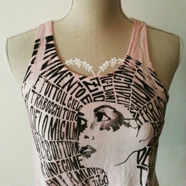 Calligram Ghirigoro T-shirt made in Italy