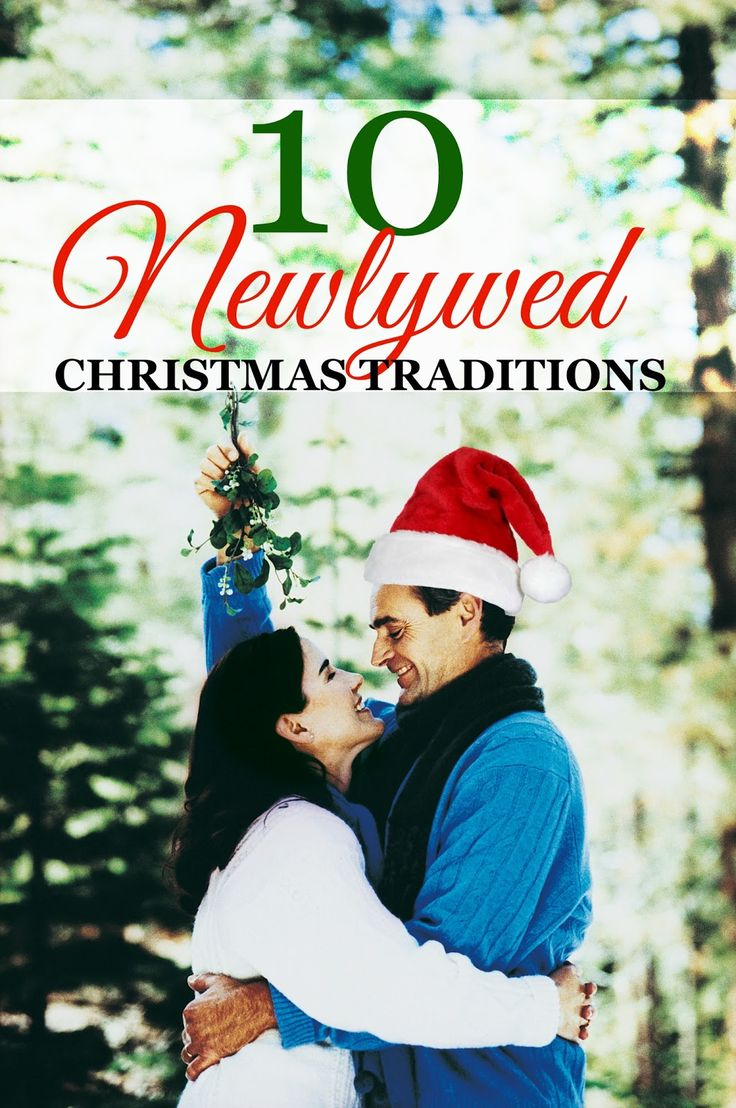 In love with all of these newlywed Christmas traditions!