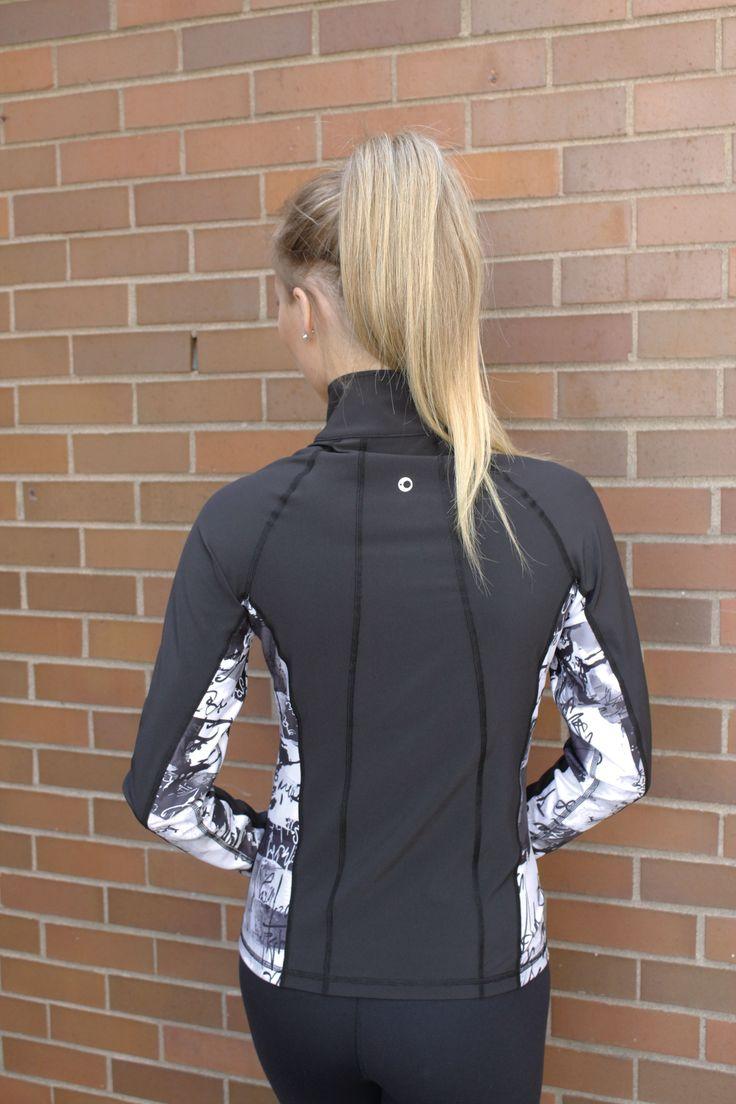 Callie Jacket in Black - lightweight, hip length, slimming