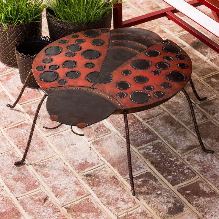 Cape Craftsman Ladybug Outdoor Side Table - 8SRM032