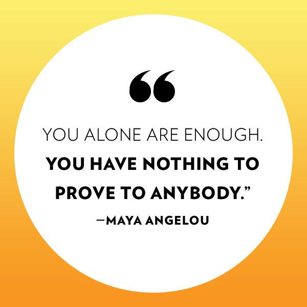 A lesson from Maya Angelou: http://www.people.com/article/maya-angelou-best-quotes