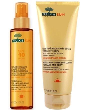 Nuxe Sun Bronzlaştırıcı Yüz ve Vücut Yağı Spf 10 & Güneş Sonrası Bakım Kremi Hediyeli