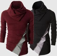 Christmas high collar red men long sleeve knitting mens sweater slim cashmere pullover fashion camisola dos homens brand(China (Mainland))