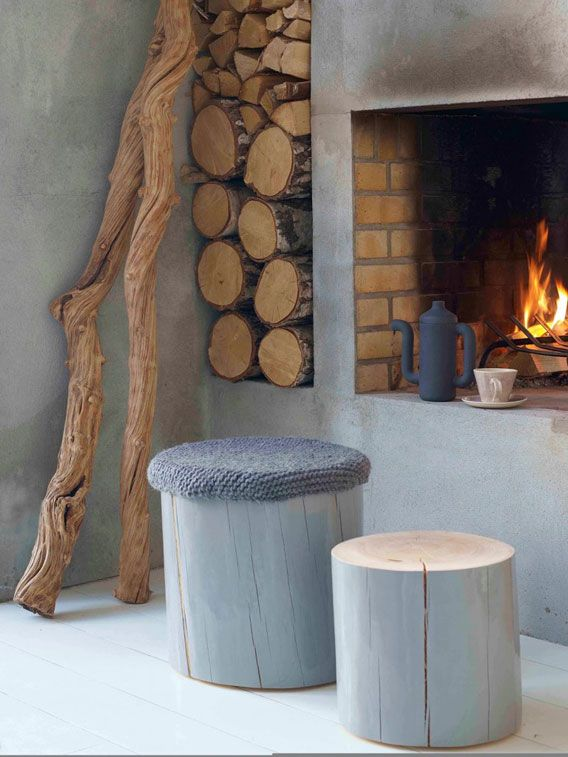 Wooden Fireplace Stools ~ Best wood wall cladding images on pinterest