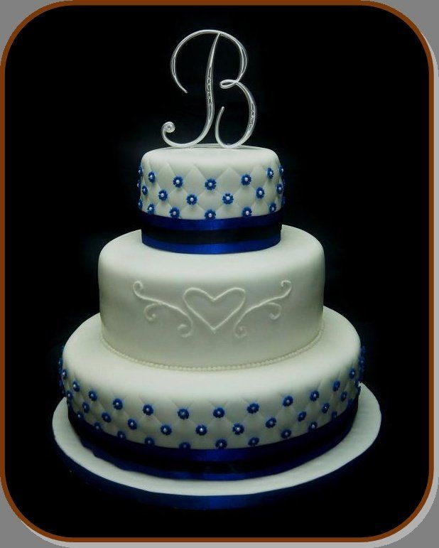Royal Blue And Silver Wedding Cakes Www Pixshark Com