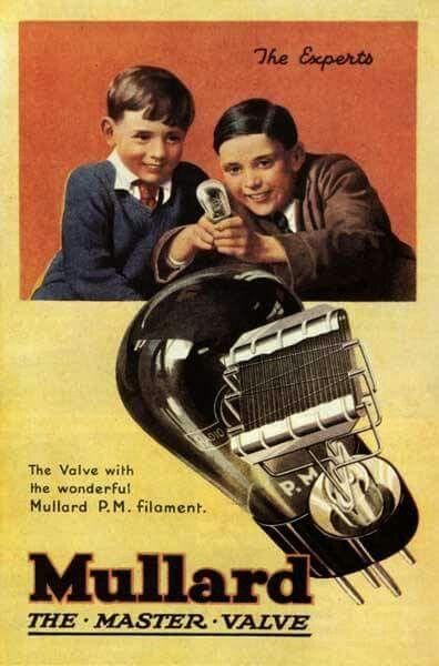 Vintage audio vacuum tube ad