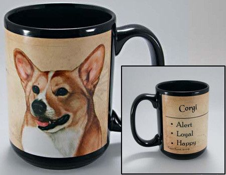 Faithful Friends Corgi Dog Breed Coffee Mug http://doggystylegifts.com/products/faithful-friends-corgi-dog-breed-coffee-mug
