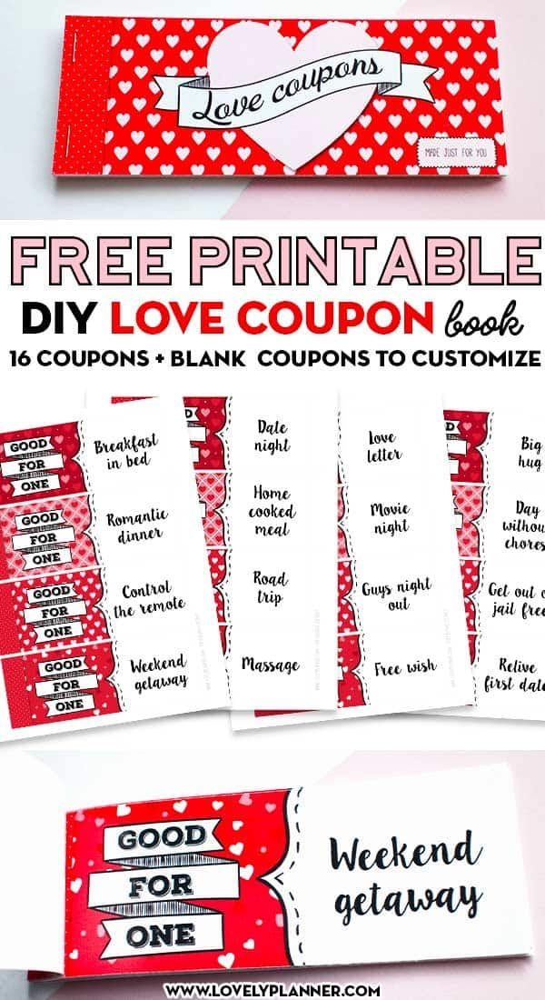 16 Free Printable Diy Love Coupons For Couples Lovely Planner Love Coupons Valentines Recipes Desserts Valentine Desserts