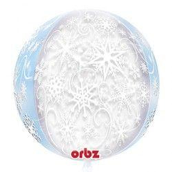 Balão De Foil Orbz Flocos De Neve