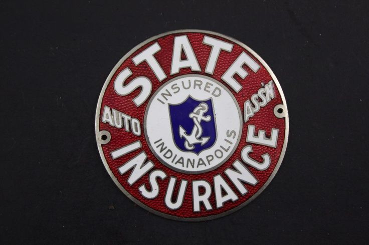 Indianapolis, IN State Auto Insurance Vintage Bumper / Radiator Tag Badge