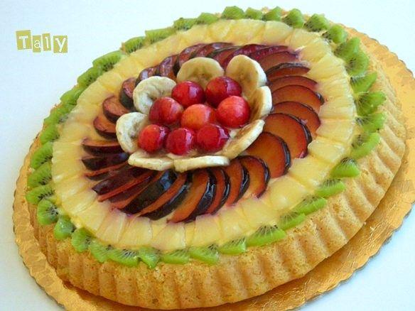 #CALIFORNIANA- Torta di #frutta con una buona base alternativa al #pandispagna
