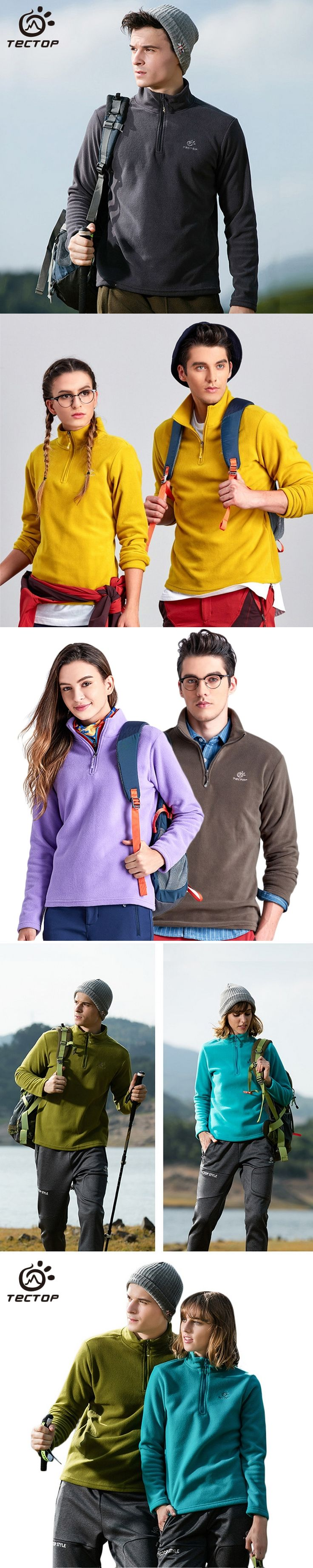 Tectop Hi-Q Spring Winter Warm Tech Fleece Outdoor Jacket Men Women Travel Trekking Sport Coat Camping Hiking Ski Jackets,AM056