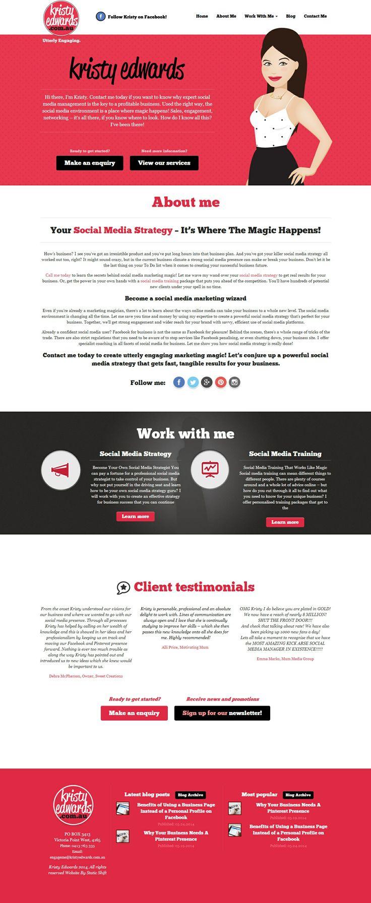 Web design for Kristy Edwards