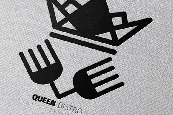 Queen Bistro Logo by MAGOO STUDIO on Creative Market