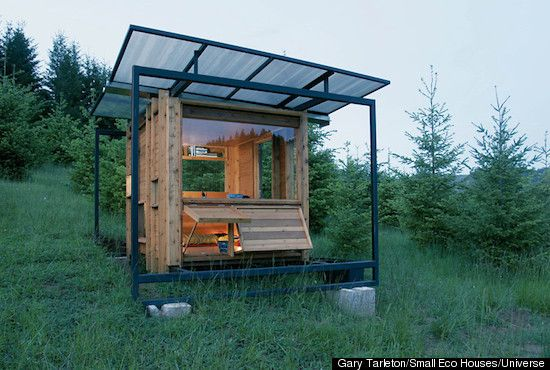 The eco-friendly, 70-square-foot Watershed House makes for an elegant living on small space