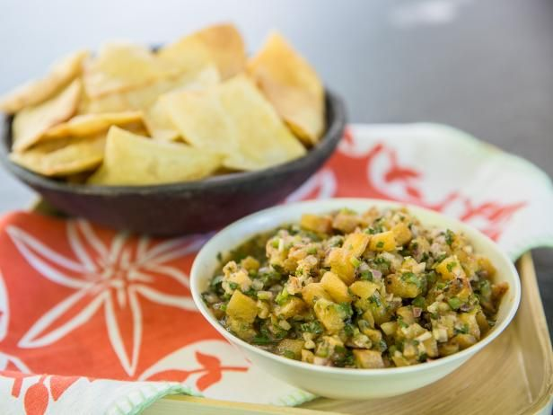 Get Seared Pineapple Salsa Recipe from Food Network