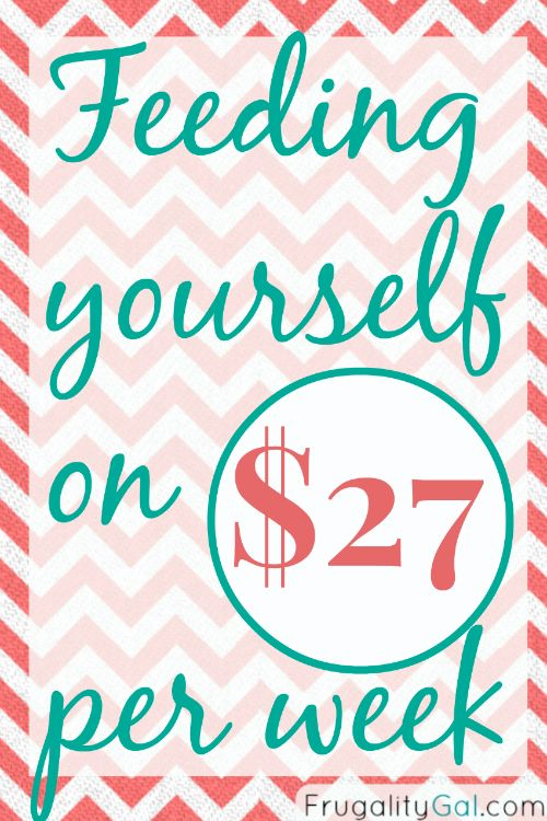 The $27/Week Grocery Budget Challenge - Frugality Gal