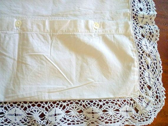 Vintage lace pillowcase by VeriGoude