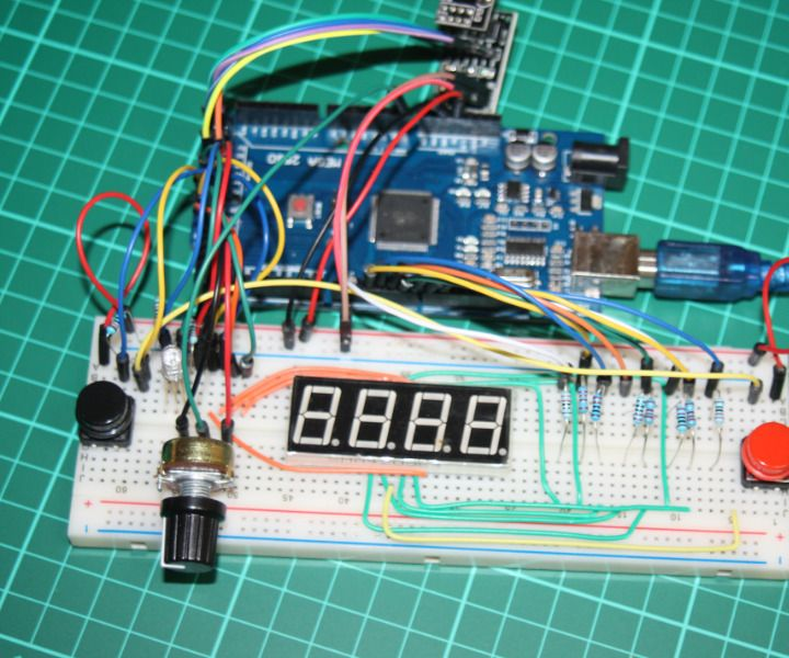 Arduino Wireless Combination Lock With NRF24L01 and 4 Digit 7 Segment Display