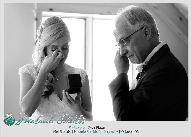 Ottawa Wedding Photographer Le Belvedere, PWPC award winning emotional father and daughter image.