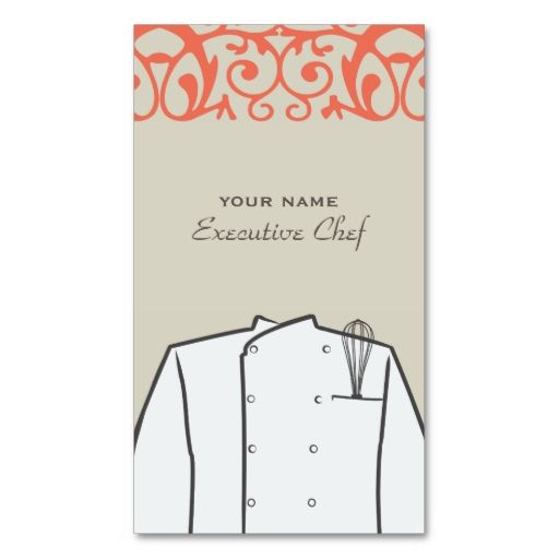 Executive Chef Business Card. This great business card design is available for customization. All text style, colors, sizes can be modified to fit your needs. Just click the image to learn more!