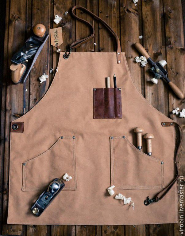 """Купить Фартук """"Столяр"""" для мастерской - фартук для мастерской, подарок для мужчины, подарок на 23 февраля"""